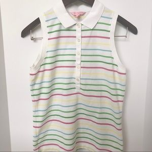 Lilly Pulitzer Sleeveless Michelle Polo Top • Sz M